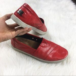 Toms Red Slip Ons